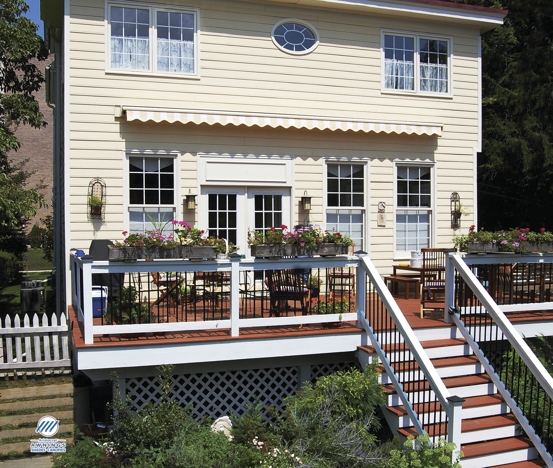 awning beautiful of ny retractable awnings the deck rochester