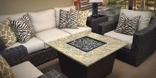 Venetian 36u201d Square: Holding True To Its Uncanny Allure And Masterfully  Crafted Design, This Pint Size Granite Top Fire Table Seamlessly Integrates  ...