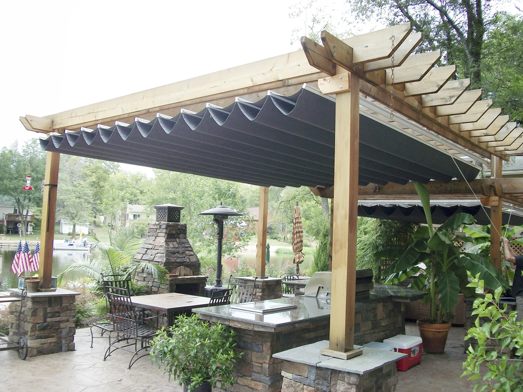 awning glass roof pergola markilux retractable awnings. Black Bedroom Furniture Sets. Home Design Ideas